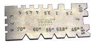 Резьбомер-шаблон для резьбовых резцов 45-70 градусов метрической, дюймовой и ленточной резьбы Vоgеl